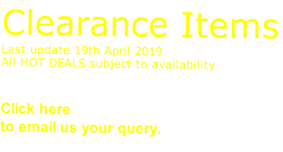 Clearance Items Last update 19th April 2019 All HOT DEALS subject to availability   Click here sales@advanced-wear.co.uk  to email us your query.
